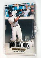 1993 Donruss Leaf 90's Dominators Lot of (8) Cards: Thomas,Griffey,Bonds,Puckett