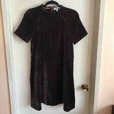 & Other Stories Aubergine Velvet Mini Shift Dress Short Sleeve Size 6