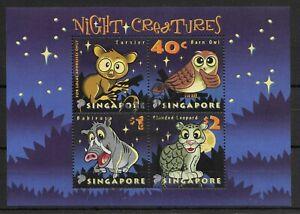 SINGAPORE *2003 * M/Sheet (4 stamps) * CTO - MNH** Night Creatures - Mi. BL 94