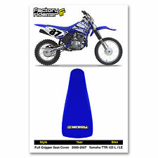 2000-2007 YAMAHA TTR 125 L-LE Blue GRIPPER SEAT COVER BY Enjoy Mfg