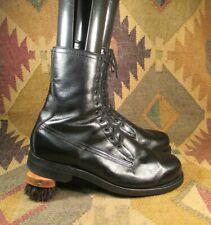 Vietnam Era circa 1969 ARMORTRED Black Leather Combat Boots size 12.5D