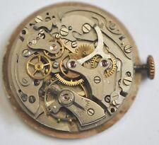 Vintage chronographe Verveine bracelet montre mouvement 17 RUBIS POUR PIÈCES #C232