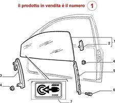 CRISTALLO FIAT PUNTO 5 PORTE  ( 55-60-75-90 )  dal 1993-1997  ANTERIORE DESTRO