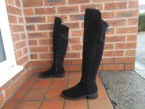 Sexy ALDO Black Suede OVER KNEE high Boots * 5 uk *