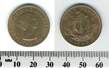 GREAT BRITAIN 1959 - 1/2 (Half) Penny Bronze Coin - Elizabeth II - Golden Hind