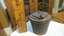 Antique Cast Iron Miniature Glue Pot THE HOME Handle, 2-part