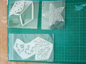 Stanzschablonen Weihnachten- 3D Sterne Bastelsterne Weihnachtsschmuck