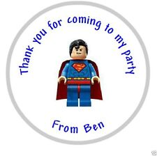 PERSONALIZADO Lego Superman Fiesta Cumpleaños de regalo mochila pegatinas