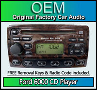 Ford Mondeo CD player Ford 6000 car stereo with radio removal keys and code