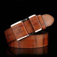 Men's Leather Smooth Buckle Belt Men's Belt Accessories