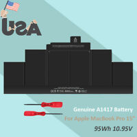 Genuine A1417 Battery for Apple Macbook Pro 15 Retina A1398 Mid 2012 Early 2013