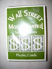 Wall Street Most Wanted Playing Cards Second Edition Unopened Great InvestorGift