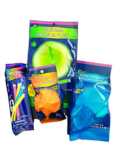 Glow Sticks Football Beachball Toy Halloween Glow Ball Party Supplies Pack 4