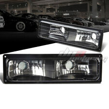 FOR 88-98 GMC SIERRA CHEVY SILVERADO C/K TRUCK 1500/2500/3500 BLACK BUMPER LAMP