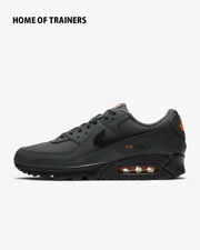 Nike Air Max 90 Hierro Gris total Naranja Negro Para hombre Zapatillas Todos Los Tamaños