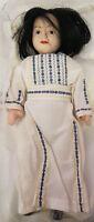 Bambola in Porcellana Tradizionale 20cm Vestito Bianco - Nuova