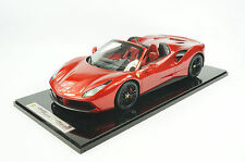 1/12 BBR FERRARI 488 SPIDER IN COLOR ROSSO FUOCCO RED LIMITED 10 PIECES N MR