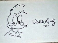 Cartoonist Walter Lantz, 'Woody Woodpecker', Hand Drawn & Signed Sketch, 1984