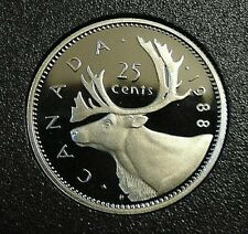 1988 SPECIMEN PROOF CANADA Canadian quarter 25 twenty five cents frosted cameos