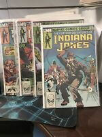 The Further Adventures of Indiana Jones SET OF FIRST 4 ISSUES (Jan 1983, Marvel)
