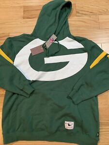 Mitchell Ness NFL Green Bay Packers Throwback Hoodie Jacket Sz 3XL BNwT Rare