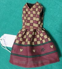 Faded Red and Tan Sleeveless Dress for Skipper Stacie HS Musical Doll SKR82