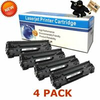 4 Pack Toner for HP CF283X 83X High Yield LaserJet Pro MFP M225dn M225dw M225rdn