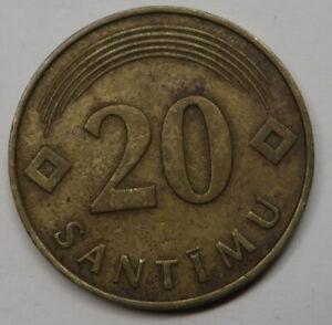 Latvia 20 Santimu 1992 Nickel-Brass KM#22.1
