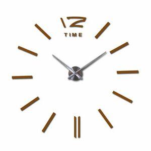 Living Room Wall Clock For Home Decorative Quartz Diy Reflective Clocks Sticker