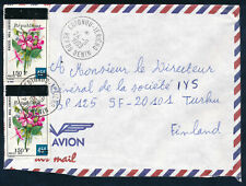 Benin 1998 a cover to Finland,  overprinted flowers