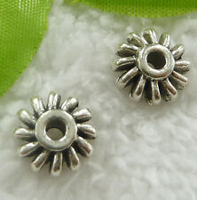 Free Ship 80 pcs tibet silver flower spacer 12x12mm #2096