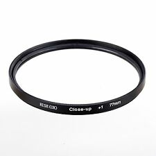 77mm +1 High Definition Close Up Macro Lens Sony Canon Nikon DSLR + FREE Pouch