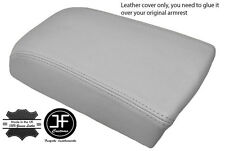 LIGHT GREY LEATHER FITS VOLVO S70 V70 850 C70  ARM REST SKIN COVER REAL LEATHER