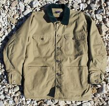Vintage Mens Large Patagonia USA Made Blanket Lined Canvas Work Chore Coat Nuevo