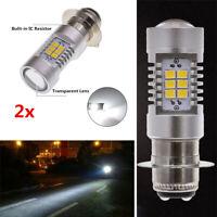 H6 P15D High Power 2835 SMD LEDs Bulb Xenon White Motorcycle Car Fog Light DRL