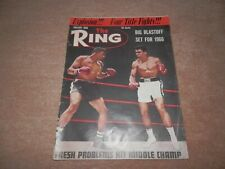 The Ring Boxing Magazine Cassius Clay Muhammad Ali Cover January 1966