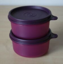 Tupperware 1 Set (2) Snack Cup Bowl 7 oz. Container Rhubarb  New