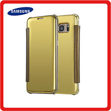 Samsung Galaxy NOTE 8 Clear View Mirror Leather Flip Wallet Stand Case Cover