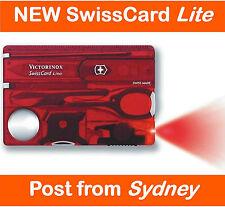 >>>Victorinox SwissCard Lite *Ruby Swiss Army Knife Pocket Card<<<