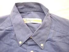 E8007 Olymp Luxor 0256 64 19 Businesshemd Kombimanschette 40 blau meliert Uni