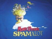 Monty Python's Spamalot T-Shirt L Large Blue Free Shipping