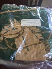 "Northwest Woven Throw Blanket Double Woven NRFP 50 x 60"" Rocking Horse"