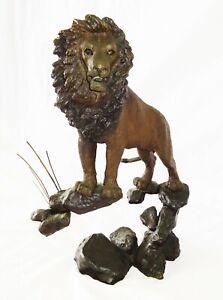 Vintage US Bronze Sculpture 160/250 Guardian of the Plains by Mark Hopkins (MeG)
