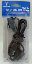 NEW Westinghouse Snap-In Candelabra Base Socket 6' Cord Set W/Switch 70003 NIP