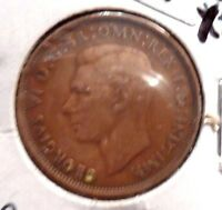 CIRCULATED, XF IN GRADE 1948 LARGE PENNY UK COIN! (22615)
