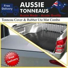 Clip On Tonneau Cover & Rubber Mat Combo for Mitsubishi MQ / MR Triton Dual Cab