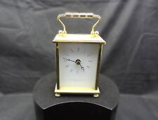 CARRIAGE/MANTLE CLOCK. NEW IN BOX. WITH LEATHER BOX.
