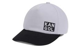Kangol Cut Out Logo Flexfit Stretch Fit Gray Black Cap Hat $30 Size S/M