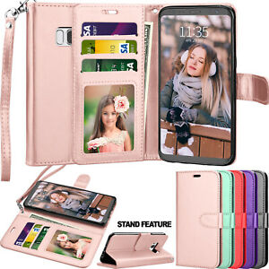 For Samsung Galaxy S9 / S7 / S8 / S10 Plus Leather Wallet Flip Case Cover