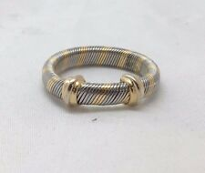 Cartier Aurore 18k Gold & S.Steel Ribbed Ring Size 56
